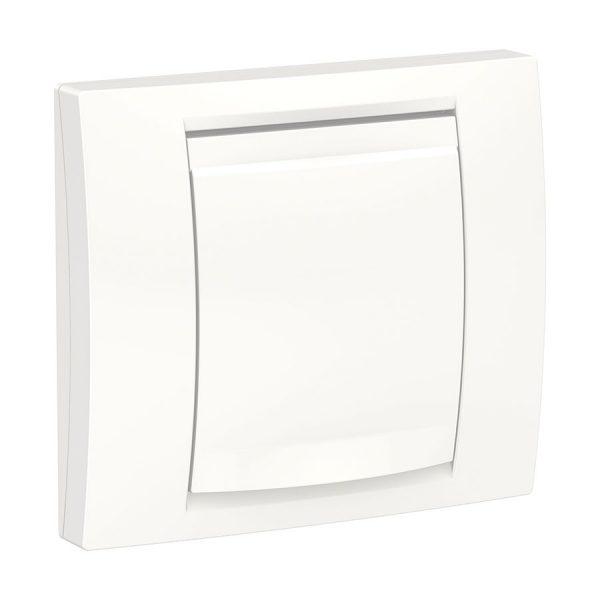 Рамка 1-постова IP44 з кришкою Unica New біла