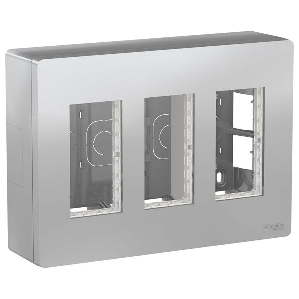 Блок відкритого монтажу Unica System+ 3х2 алюміній