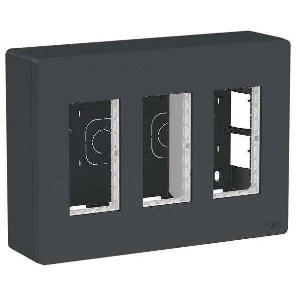 Блок відкритого монтажу Unica System+ 3х2 антрацит