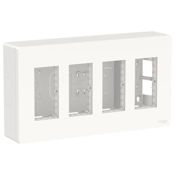 Блок відкритого монтажу Unica System+ 4х2 білий