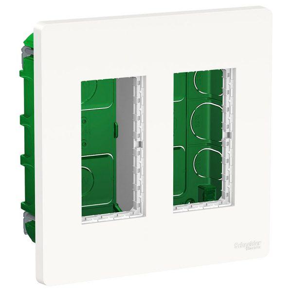 Блок прихованого монтажу Unica System+ 2х2 білий