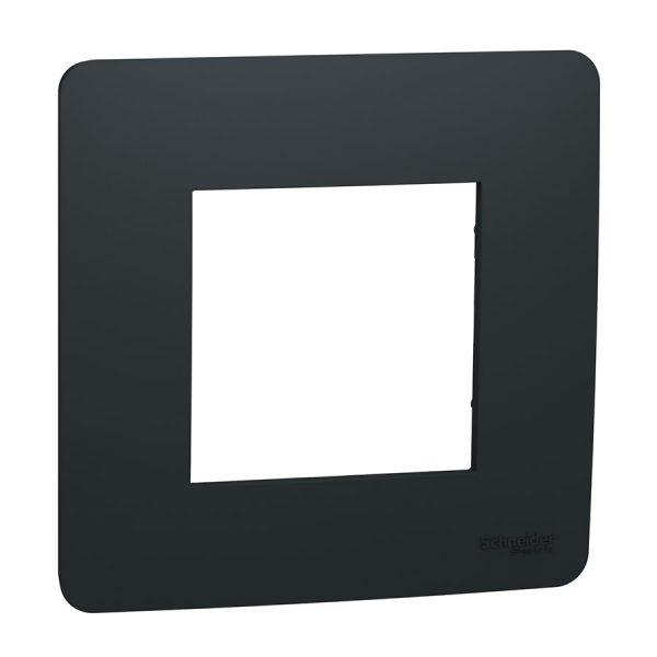 Рамка 1-на постова антрацит Unica NEW