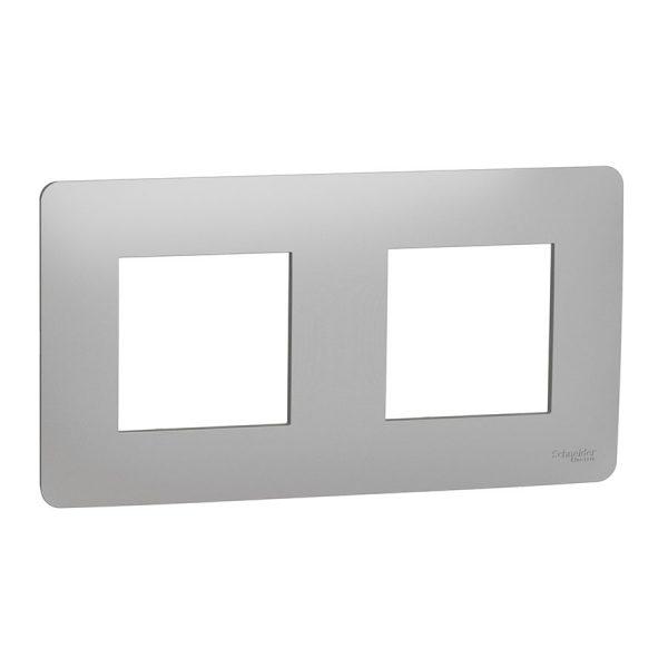 Рамка Unica Studio 2-на алюміній