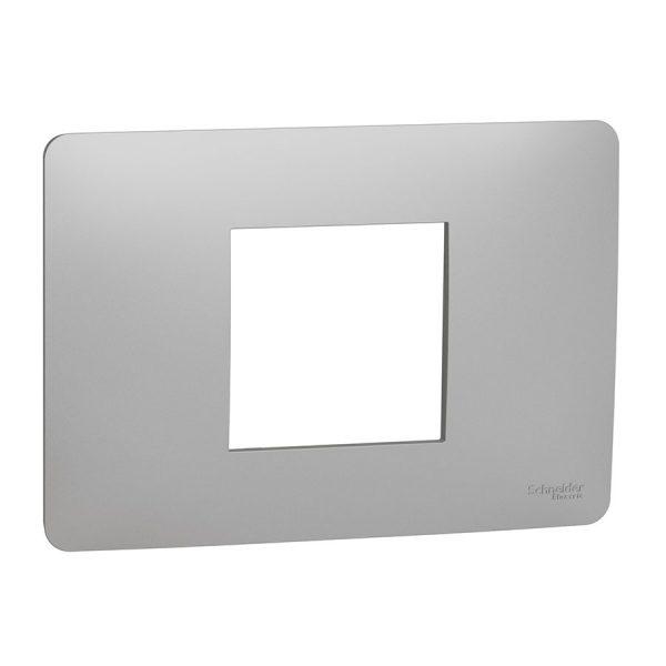 Рамка Unica Studio 2-модульна алюміній