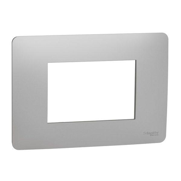 Рамка Unica Studio 3-модульна алюміній