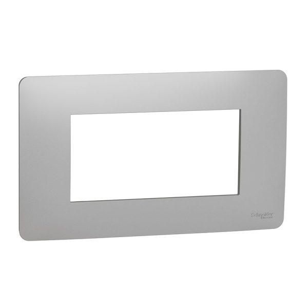 Рамка Unica Studio 4-модульна алюміній