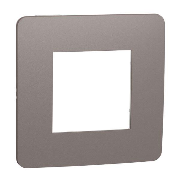 Рамка Unica Studio Color 1-на шоколад/біла
