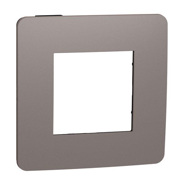 Рамка Unica Studio Color 1-на шоколад/антрацит