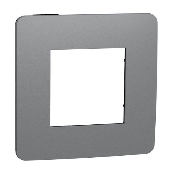 Рамка Unica Studio Color 1-на димчато-сіра/антрацит