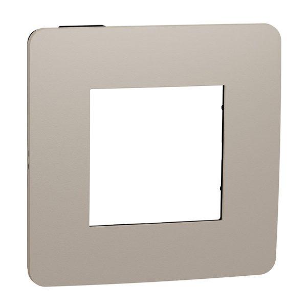 Рамка Unica Studio Color 1-на пісочна/антрацит