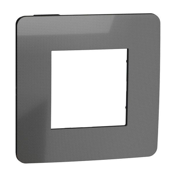 Рамка Unica Studio Metal 1-на нікель/антрацит