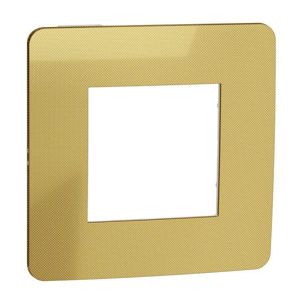 Рамка Unica Studio Metal 1-на золото/біла