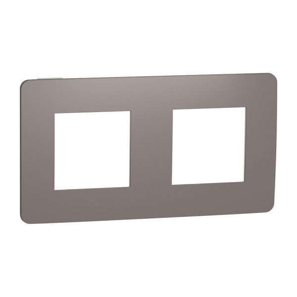 Рамка Unica Studio Color 2-на шоколад/біла