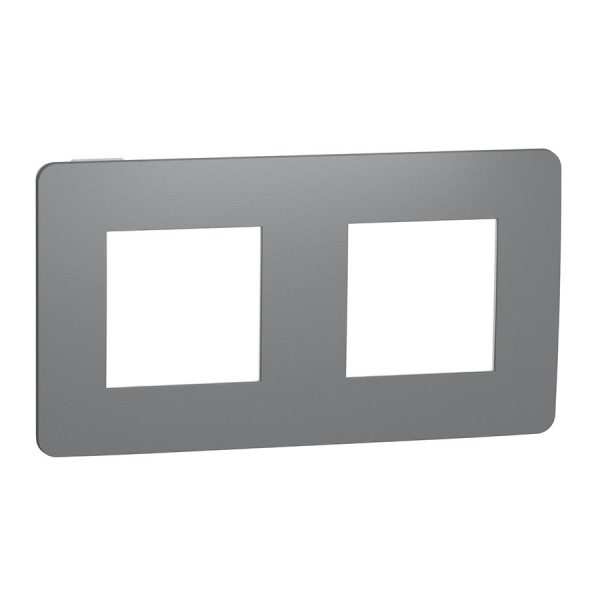 Рамка Unica Studio Color 2-на димчато-сіра/біла