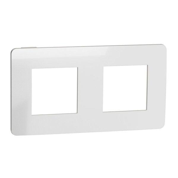 Рамка Unica Studio Metal 2-на хром/біла