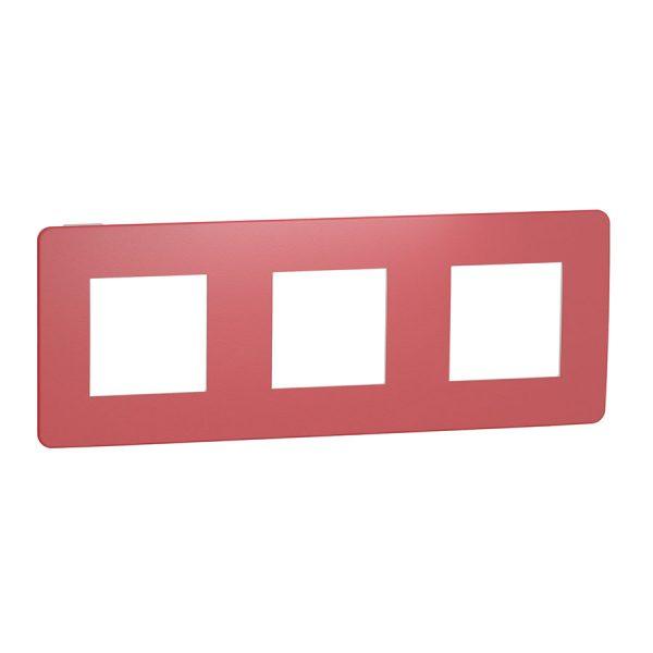 Рамка Unica Studio Color 3-на червона/біла