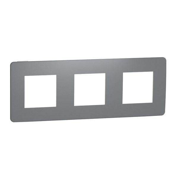 Рамка Unica Studio Color 3-на димчато-сіра/біла