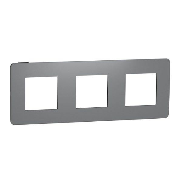 Рамка Unica Studio Color 3-на димчато-сіра/антрацит