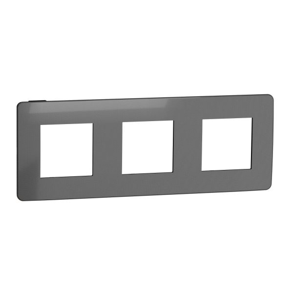 Рамка Unica Studio Metal 3-на нікель/антрацит