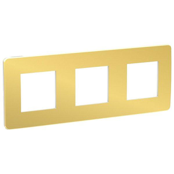 Рамка Unica Studio Metal 3-на золото/біла