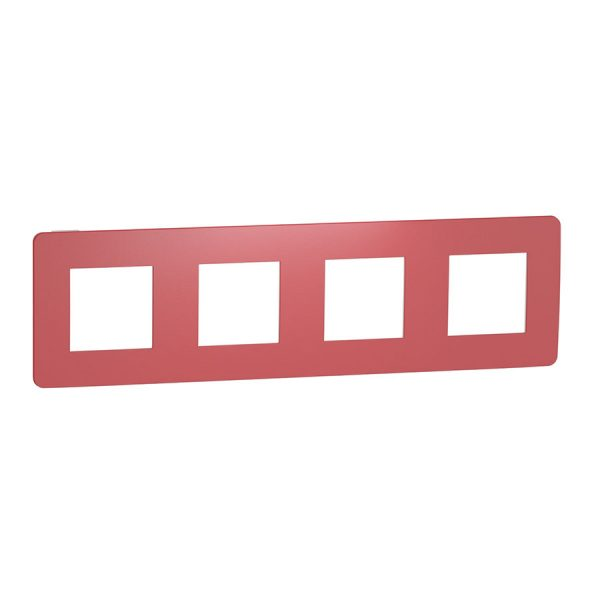 Рамка Unica Studio Color 4-на червона/біла