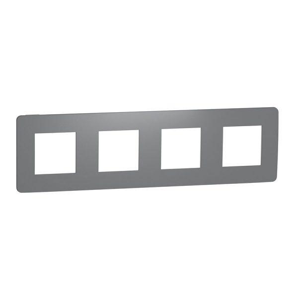 Рамка Unica Studio Color 4-на димчато-сіра/біла