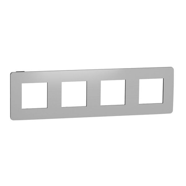 Рамка Unica Studio Metal 4-на хром/антрацит