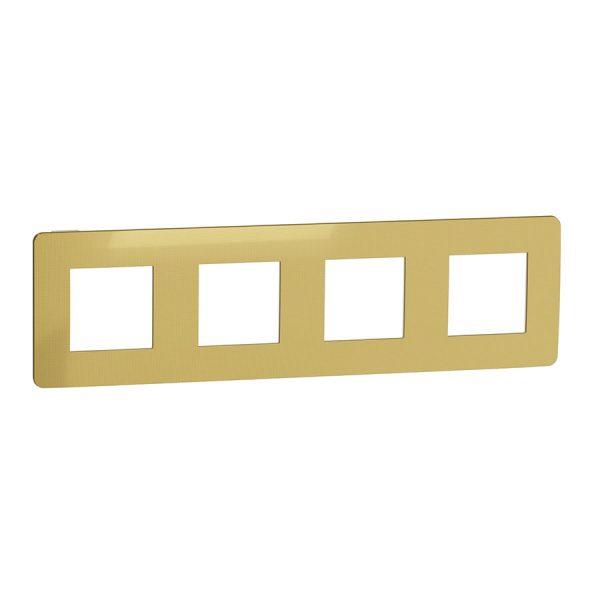 Рамка Unica Studio Metal 4-на золото/біла