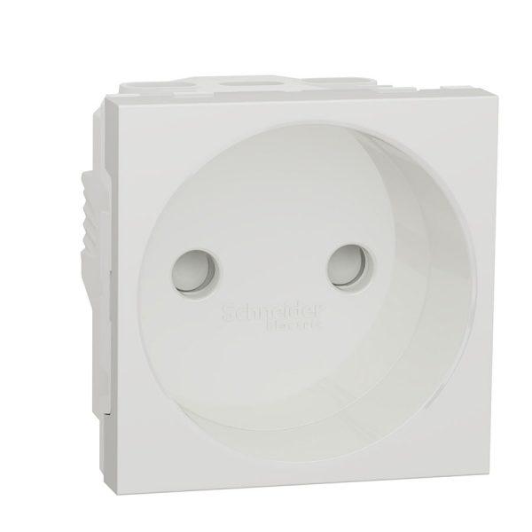 Розетка Unica New без з/з. зі шторками 16 А 250 В біла