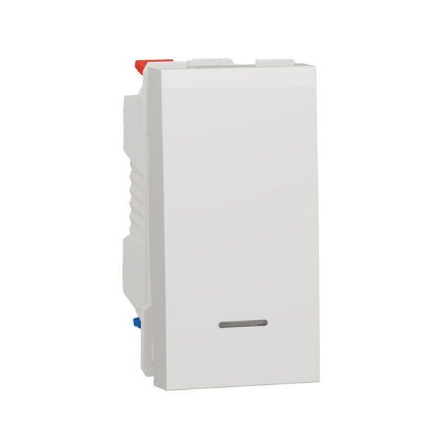 Перемикач з підсв. і N 1 кл. (сх.6) 10A біл. (1м) Unica NEW