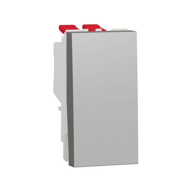 Перемикач Unica New, 1-клавішний перехресний схема 7, 10 А, 1 модуль алюміній