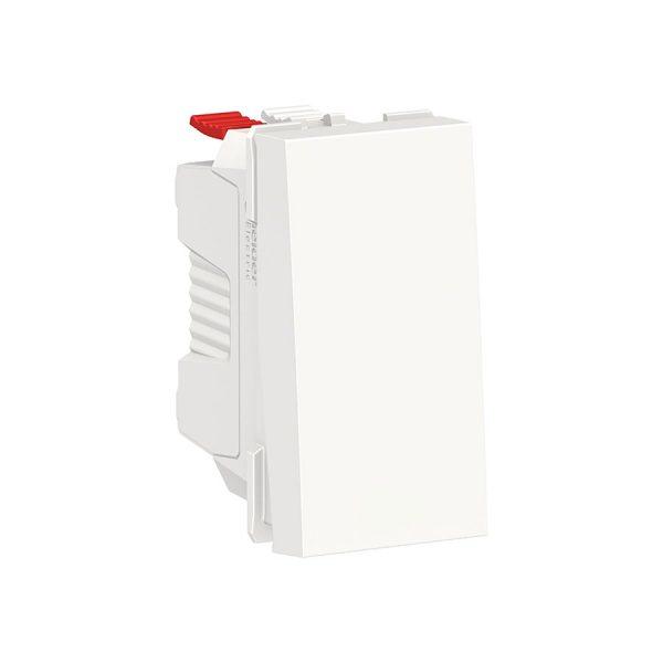 Вимикач Unica New 1-клавішний кнопковий схема 1, 10 А, 1 модуль білий