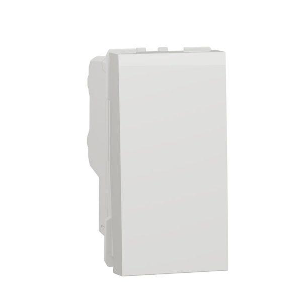 Двополюсний вимикач 16 А 1 модуль Unica New білий