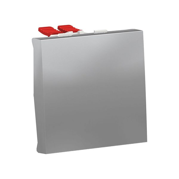 Перемикач Unica New, 1-клавішний перехресний схема 7, 10 А, 2 модуля алюміній