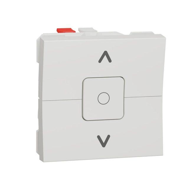 Вимикач Unica New для жалюзі 2-клавішний схема 4, 6А 2 модуля білий