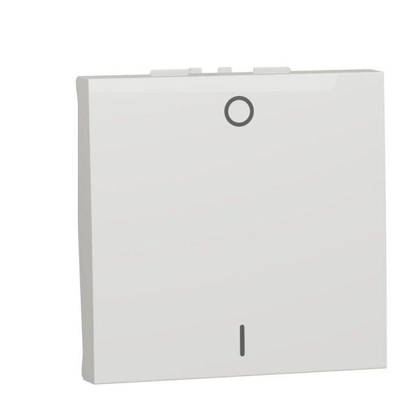Двополюсний вимикач 16 А 2 модуля Unica New білий