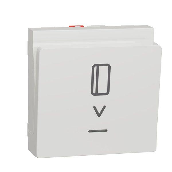 Вимикач Unica New картковий з підсвіткою 10 А, 2 модуля білий