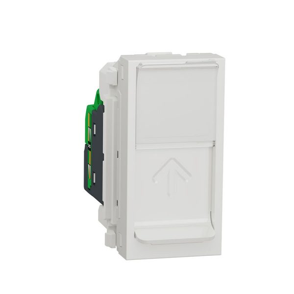 Розетка Unica New комп'ютерна RJ45 кат.6 UTP 1 модуль біла