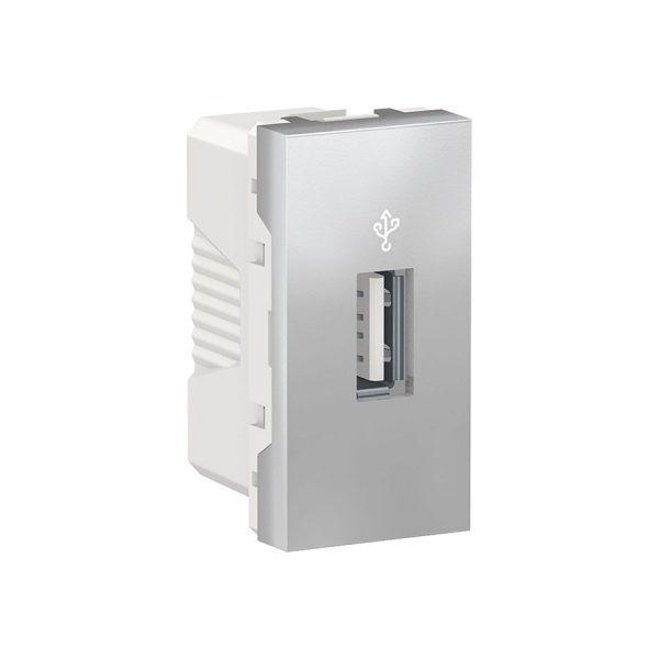USB-конектор Unica New USB 1 модуль алюміній
