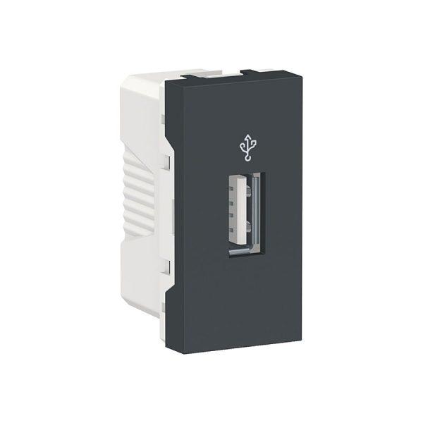 USB-конектор Unica New USB 1 модуль антрацит