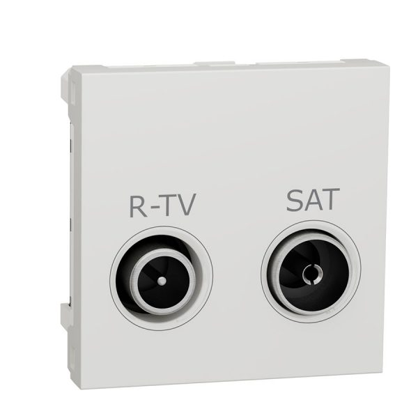 Розетка Unica New R-TV/SAT кінцева біла