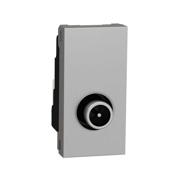 Розетка Unica New TV одинарна 1 модуль алюміній