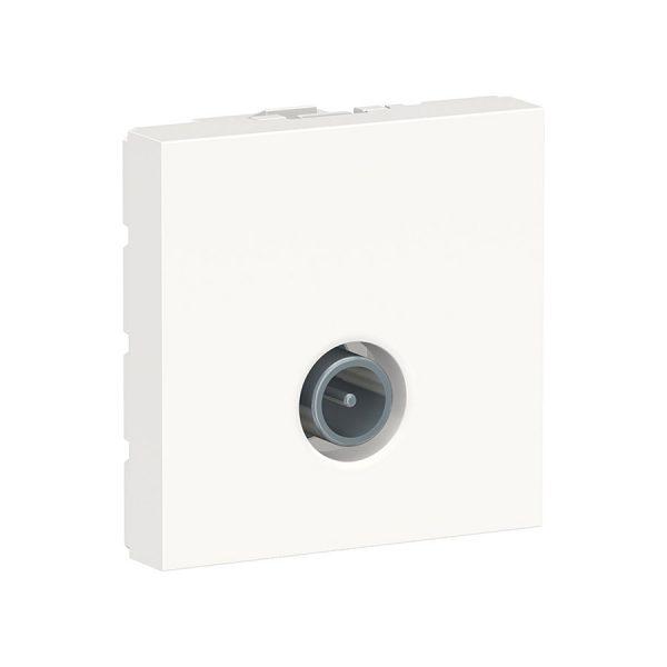 Розетка 1-на TV (2м) біла Unica NEW