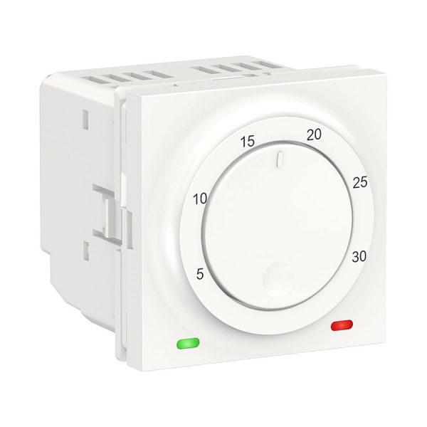 Термостат кімнатний, вбудований датчик, 8 А, Unica New білий