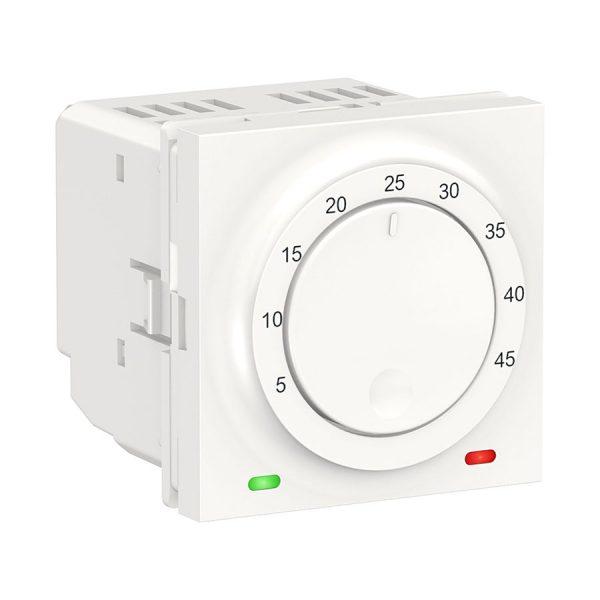 Термостат теплої підлоги, 10 А, виносний термодатчик, Unica New білий