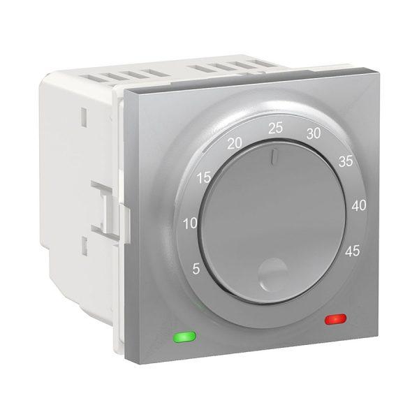 Термостат теплої підлоги, 10 А, виносний термодатчик, Unica New алюміній