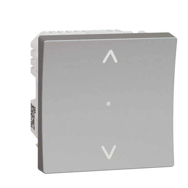 Вимикач Wiser управління жалюзі, Unica New алюміній