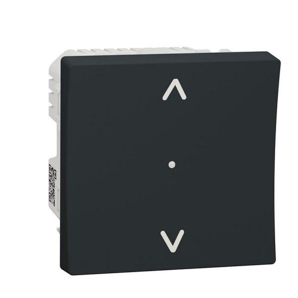Вимикач Wiser управління жалюзі, Unica New антрацит