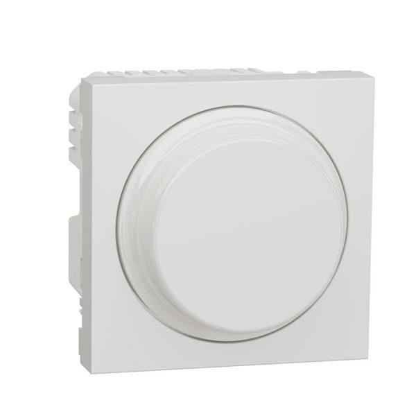 Універсальний поворотно-натискний димер для LED ламп, Unica New білий