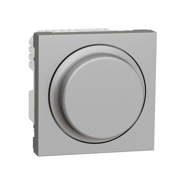 Універсальний поворотно-натискний димер для LED ламп, Unica New алюміній